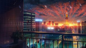 Rating: Safe Score: 285 Tags: building city niko_p original scenic sunset User: RyuZU