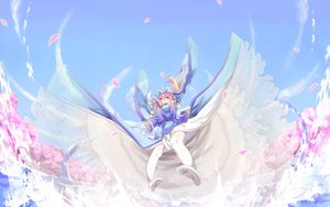 Rating: Safe Score: 60 Tags: petals pink_eyes pink_hair saigyouji_yuyuko saraki thighhighs touhou User: FormX
