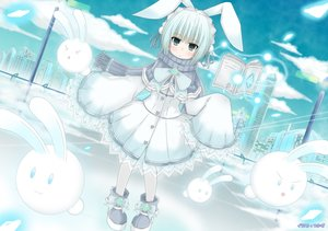 Rating: Safe Score: 41 Tags: animal_ears bunny_ears bunnygirl loli original scarf tsu-kaze User: sadodere-chan