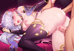 Rating: Explicit Score: 173 Tags: anus ass breasts censored cum fate/grand_order fate_(series) gray_hair kama_(fate/grand_order) long_hair male nipples penis pussy rogia sex thighhighs User: BattlequeenYume