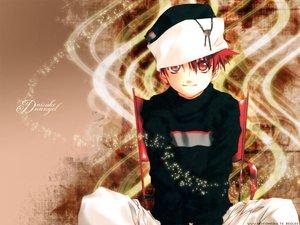 Rating: Safe Score: 10 Tags: all_male dnangel hat male niwa_daisuke red_eyes red_hair sugisaki_yukiru User: Oyashiro-sama