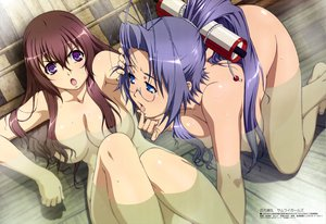 Rating: Questionable Score: 208 Tags: 2girls blue_hair breasts glasses hattori_hanzou_yoshinari hyakka_ryouran_samurai_girls miyazawa_tsutomu nude tokugawa_sen wet User: izuna