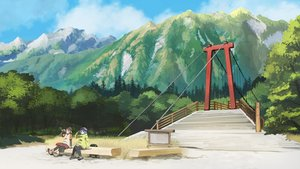 Rating: Safe Score: 102 Tags: 2girls blue_hair drink hat inubashiri_momiji kawashiro_nitori kitsune_(kazenouta) landscape scenic thighhighs touhou tree wolfgirl User: Flandre93