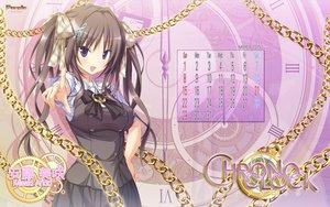 Rating: Safe Score: 64 Tags: andou_misaki brown_hair calendar chrono_clock koku logo long_hair purple_eyes purple_software school_uniform twintails User: Wiresetc