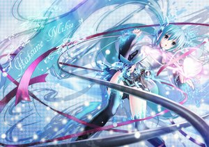 Rating: Safe Score: 58 Tags: aqua_hair hatsune_miku long_hair miku_append nisson thighhighs twintails vocaloid User: HawthorneKitty