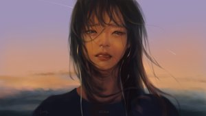 Rating: Safe Score: 74 Tags: close crying g-tz headphones long_hair original realistic signed sunset tears watermark User: BattlequeenYume