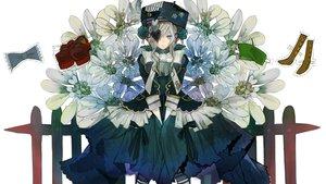 Rating: Safe Score: 27 Tags: dress eyepatch flowers goth-loli hat lolita_fashion ukai_saki User: FormX