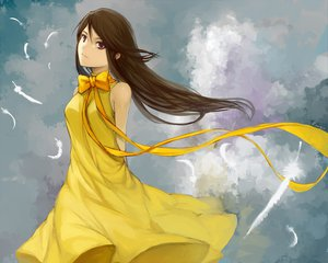Rating: Safe Score: 66 Tags: clouds dress feathers m874 mishima_reika rahxephon User: HawthorneKitty