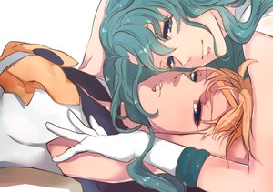 Rating: Safe Score: 71 Tags: 2girls aqua_hair blonde_hair blue_eyes gloves jun_(anna19791220) kaiou_michiru sailor_moon sailor_neptune sailor_uranus shoujo_ai tenou_haruka User: FormX