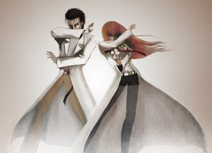 Rating: Safe Score: 99 Tags: brown_hair makise_kurisu okabe_rintarou red_hair steins;gate User: HawthorneKitty