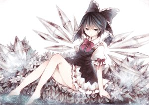 Rating: Safe Score: 141 Tags: barefoot cirno dress fairy short_hair touhou water wiriam07 User: luckyluna