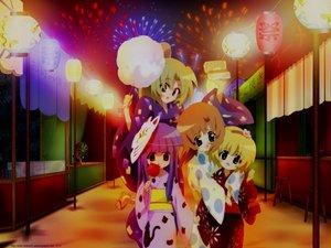Rating: Safe Score: 17 Tags: festival fireworks furude_rika higurashi_no_naku_koro_ni houjou_satoko mask rainbow ryuuguu_rena sonozaki_mion User: Oyashiro-sama