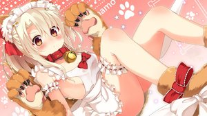 Rating: Questionable Score: 99 Tags: animal_ears apron ass bell blonde_hair blush boots bow breasts brown_eyes collar cosplay fate/grand_order fate/kaleid_liner_prisma_illya fate_(series) foxgirl gloves headdress illyasviel_von_einzbern loli long_hair naked_apron sasahara_wakaba tail User: RyuZU