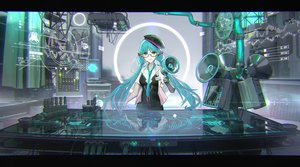 Rating: Questionable Score: 39 Tags: computer glasses hatsune_miku itohime long_hair reflection twintails vocaloid User: Dreista