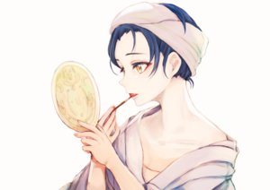 Rating: Safe Score: 47 Tags: blue_hair lilylion26 love_live!_school_idol_project mirror sonoda_umi white yellow_eyes User: FormX
