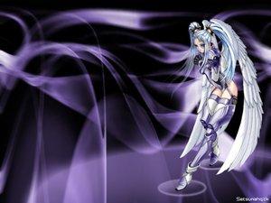 Rating: Safe Score: 9 Tags: mechagirl ophelia_buckingham purple taka_tony tempest wings User: Oyashiro-sama