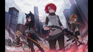 Rating: Safe Score: 26 Tags: arknights croissant_(arknights) exusiai_(arknights) logo sora_(arknights) texas_(arknights) tttanggvl User: Fepple