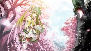 Rating: Questionable Score: 52 Tags: cherry_blossoms flowers green_eyes green_hair hatsune_miku headphones kouji_(astral_reverie) petals spring thighhighs tree twintails vocaloid User: RockinHeaven