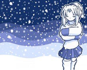 Rating: Safe Score: 0 Tags: fred_gallagher megatokyo monochrome nanasawa_kimiko snow User: Oyashiro-sama
