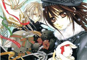 Rating: Safe Score: 21 Tags: bunny doll glasses kaien_cross snow vampire_knight winter yuuki_cross User: Katsumi