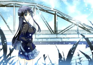 Rating: Safe Score: 91 Tags: long_hair sakayama_shinta scan snow touma_kazusa white_album white_album_2 User: Wiresetc