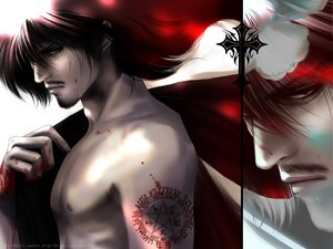 Rating: Safe Score: 59 Tags: all_male alucard hellsing male tattoo User: Tensa