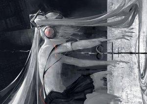 Rating: Safe Score: 49 Tags: aliasing hatsune_miku headphones long_hair polychromatic skirt tagme_(artist) twintails vocaloid User: luckyluna
