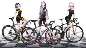 Rating: Safe Score: 74 Tags: bicycle bike_shorts glasses hitomi_kazuya long_hair original purple_hair reflection short_hair shorts skintight third-party_edit waifu2x watermark User: gnarf1975