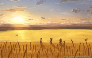 Rating: Safe Score: 124 Tags: alice_schuberg eugeo kirigaya_kazuto landscape scenic sword_art_online yuugure User: Dust
