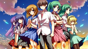 Rating: Safe Score: 89 Tags: blonde_hair blue_eyes blue_hair brown_hair clouds dress furude_rika green_hair group hanyuu headband higurashi_no_naku_koro_ni houjou_satoko long_hair maebara_keiichi matsuzaki_yutaka pantyhose ponytail purple_eyes purple_hair ryuuguu_rena school_uniform short_hair skirt sky sonozaki_mion sonozaki_shion third-party_edit tie User: furu