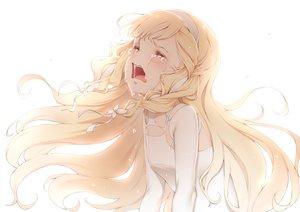 Rating: Safe Score: 92 Tags: aliasing blonde_hair blush crying dress elbow_gloves gloves kinhasu long_hair maquia sayonara_no_asa_ni_yakusoku_no_hana_wo_kazarou tears white User: RyuZU