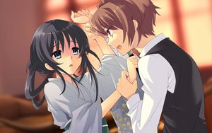 Rating: Safe Score: 30 Tags: flyable_heart itou_noiji japanese_clothes katsuragi_syo kimi_no_nagori_wa_shizuka_ni_yurete knife shirasagi_mayuri tears yukata User: Tensa