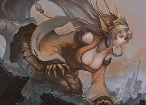Rating: Safe Score: 32 Tags: animal_ears blonde_hair breasts building choker city cleavage doomfest japanese_clothes long_hair monster_girl_encyclopedia orange_eyes tail techgirl User: otaku_emmy