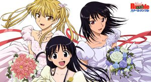 Rating: Questionable Score: 33 Tags: dress sawachika_eri school_rumble tsukamoto_tenma tsukamoto_yakumo wedding_attire User: 秀悟