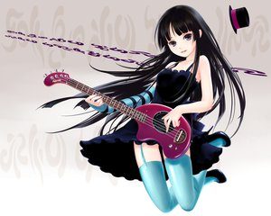 Rating: Safe Score: 39 Tags: akiyama_mio garter_belt guitar instrument k-on! yori User: rargy