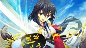 Rating: Safe Score: 44 Tags: fan game_cg hinasaki long_hair sengoku_hime sword weapon User: Maboroshi
