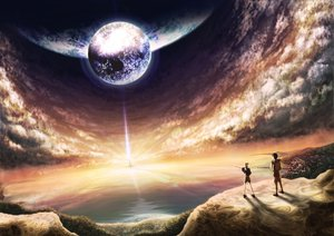 Rating: Safe Score: 197 Tags: clouds earth landscape minusion moon original planet scenic sky sunset water User: Tensa