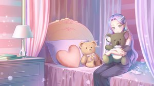 Rating: Safe Score: 23 Tags: bed book gonzz_(gon2rix) long_hair original phone teddy_bear User: BattlequeenYume