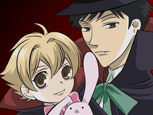 Rating: Safe Score: 9 Tags: all_male bunny cosplay haninozuka_mitsukuni male morinozuka_takashi ouran_koukou_host_club vampire vector User: Oyashiro-sama