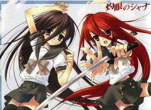 Rating: Safe Score: 21 Tags: alastor school_uniform shakugan_no_shana shana sword thighhighs weapon User: Oyashiro-sama