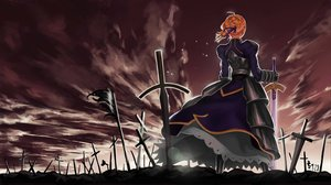 Rating: Safe Score: 75 Tags: fate_(series) fate/stay_night feitie jpeg_artifacts saber sky sword weapon User: Tensa
