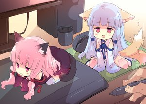 Rating: Safe Score: 69 Tags: animal_ears blue_hair catgirl cat_smile chibi doggirl kotonoha_akane kotonoha_aoi long_hair petenshi_(dr._vermilion) pink_hair purple_eyes sketch tail thighhighs twins voiceroid User: luckyluna