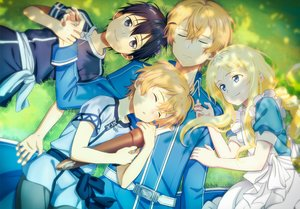 Rating: Safe Score: 18 Tags: alice_schuberg apron black_eyes black_hair blonde_hair blue_eyes eugeo fcc grass headband kirigaya_kazuto loli long_hair male short_hair sleeping sword_art_online sword_art_online_alicization User: RyuZU