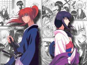 Rating: Safe Score: 11 Tags: himura_kenshin japanese_clothes male rurouni_kenshin scar sword weapon yukishiro_tomoe User: Oyashiro-sama