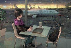 Rating: Safe Score: 33 Tags: aircraft hoodie original scenic tokunaga_akimasa User: FormX