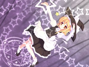 Rating: Safe Score: 26 Tags: blonde_hair bow dress hat kirisame_marisa magic natsumiya_yuzu ribbons socks touhou witch yellow_eyes User: Xtea
