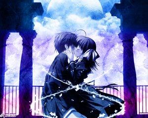 Rating: Safe Score: 11 Tags: blush bow dress kiss nanao_naru User: Oyashiro-sama