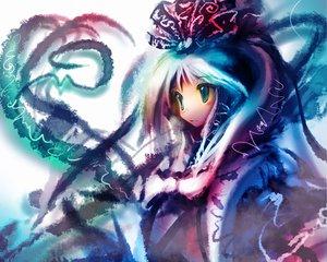 Rating: Questionable Score: 15 Tags: aqua_eyes aqua_hair kagiyama_hina long_hair ribbons touhou User: 秀悟