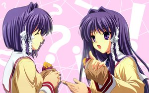 Rating: Safe Score: 11 Tags: 2girls clannad food fujibayashi_kyou fujibayashi_ryou twins User: Oyashiro-sama