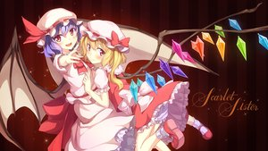 Rating: Safe Score: 87 Tags: 2girls blush flandre_scarlet remilia_scarlet shinomome_haru short_hair touhou wings User: FormX
